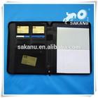 custom promotion leather a4 file holder