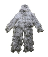 2014 al aire libre para adultos ghillie traje de nieve 3-d camo caza camuflaje