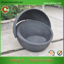 Outdoor Rattan Egg Chair Aluminum Frame