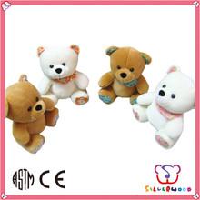 ICTI SEDEX factory lovely animal cheap custom cute pure white teddy bear