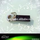 Men of high-grade car leather keychain/customizde logo metal leather keychain