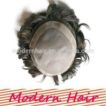 2014 fashionable 6A grade indian hair men toupee wigs for black men