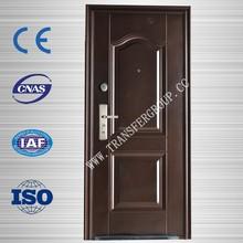 Popular Exterior Steel Security Door with Glass,high quality
