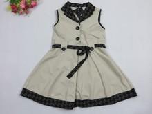 2015 fashion girls dress cotton kids dresses children plaid clothing