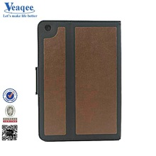 Veaqee durable new 2014 cotton fabric jean hot leather case for ipad mini