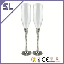 Zinc-alloy With Silver Plating Wholesale Price Home goods Wine Glasses