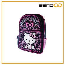 high quality hello kitty girls cute fashionable ergonomic school bag