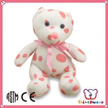 ICTI Factory wholesale customized size DIY cute north pole white teddy bear