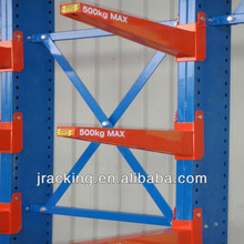 Esd Protection Feature Bolt and Nut Steel Cantilever Storage Rack for Sheet Metal Heavy Duty Shelf
