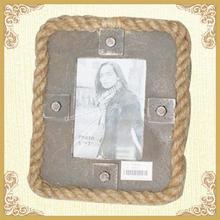 Square photo frame,hemp rope frame