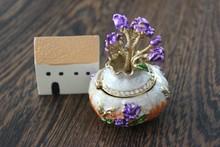 Beautiful flower case shaped gift box jewelry wedding decoration gift