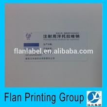 80g art paper Medicine labels sticker for color printing