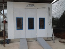 car paint cabin, car body painting and baking room