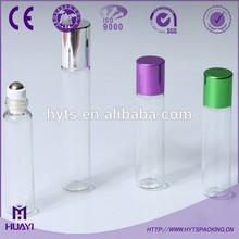 hot sale clear 8ml 10ml glass bottle roller ball