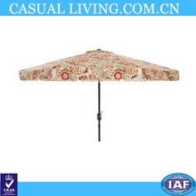 Multicolored Floral 9-foot Patio Umbrella