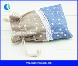 cute printed linen pouch drawstring design