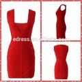 ضمادة المشاهير سعر المصنع الصين امرأة بلا أكمام الفساتين الطرف