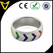 Rainbow Ring Stainless Steel 316L Gay Lesbian Love Men Women rings