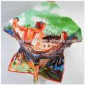 Peinture à l'huile impression foulard de soie numérique