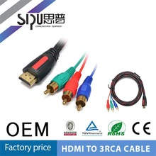 SIPU high quality hdmi cable hdmi converter to rca cable