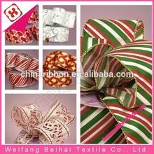 Wired Edge Decorative Christmas Ribbon
