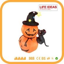 2014 new Halloween decoration 4 feet inflatable pumpkin with cat