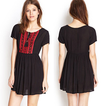 embroidery dress design cheap china wholesale clothing woman clothing in turkey