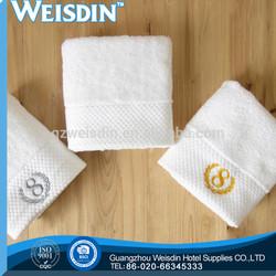 bleached hot sale 100% organic cotton a&b retail towel jacquard curtains