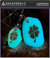 Glow charms with lettering
