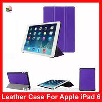 For Ipad Air 2/ Ipad 6 (2014 Model) Slim Case, Leather Smart Cover Case For Ipad Air 2 /Iapd 6(2014),Dark Purple