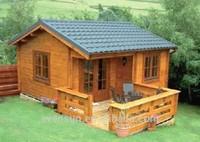 canadian spruce prefab log wood house