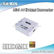 1080P Video Upscaling HD AV to HDMI video Converter RGB Coaxial Converter