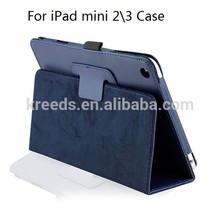PU Folio leather case for ipad mini 2\3 case litchi pattern