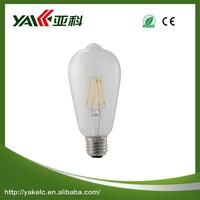 High brightness ST64 csl auto led light bulb E27
