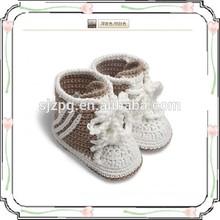 Lindo del bebé del ganchillo de zapatos calcetines / azul del bebé calcetines / Superior zapatos del ganchillo del bebé calcetines