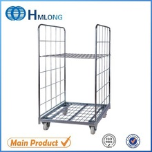 High quality galvanized mild steel laundry roll container