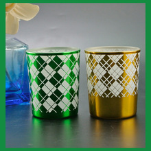 gold glass tea light holder home goods green glass candle holder cup