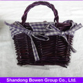 100% cara de algodón/deporte toalla de color morado en cestas de tejido con el mango