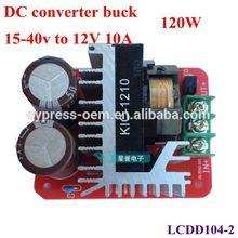 High power buck converter/power module current 10A , 15V 17V 19V 21V 23V 25V 27V 29V 31v 33V to DC 12V,120W