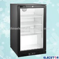 Bar mini display fridge/mini fridge glass transparent door/bar beer keg fridge