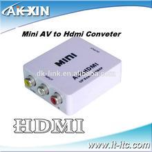 Wholesale AK-XIN HD AV to HDMI video Converter Box Supports PAL/NTSC TV Formats