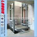 2 piso elevador de carga hidráulica, elevador de carga lisjd1.0- 7.5
