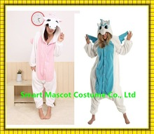 Wholesale cheap flannel adult and kids sizes blue unicorn pajamas pyjamas unisex unicorn sleepwear for sale