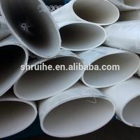 alibaba china hot tube white grey flat white ellipse pvc oval tube