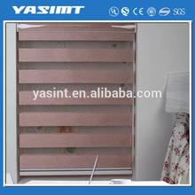 Many colors available zebra blind fabric window shade brackets