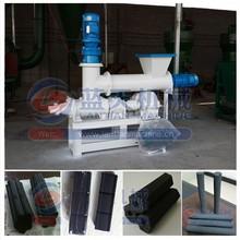 Screw type coal powder briquette press machine/charcoal sticks making extruder