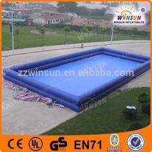 Most Popular 0.9MM Durable PVC Aqua Amusement Large Inflatable Pool