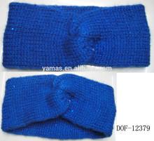 Fashion Hot crochet acrylic bright sequin bow headband