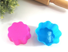 Cup Cake Food Grade Silicone Cake/Ice Cream Pan DIY Baking mold
