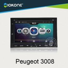 "7"" iokone dashboard car radio/RDS player GPS navigation for Peugeot 3008"